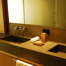 Modern Vanity Tops And Side Splashes by Concrete Shop
