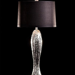 """Melting Paris 847 table lamp - The Melting Paris table lamp was designed and produced by Pieter Adam. The Melting Paris series combines natures' radiance with organic shapes in a contemporary style by employing a raw surface of bronze or silverplating. Each piece is handcrafted in wax and then casted in bronze. Recognizable shapes are restyled to achieve their own look. The male and female figures come togehther in the 'Sunday Afternoon' pieces. These sculptures are characteristic of detail and achievement.   Product Details:    The Melting Paris table lamp was designed and produced by Pieter Adam. The Melting Paris series combines natures' radiance with organic shapes in a contemporary style by employing a raw surface of bronze or silverplating. Each piece is handcrafted in wax and then casted in bronze. Recognizable shapes are restyled to achieve their own look. The male and female figures come togehther in the 'Sunday Afternoon' pieces. These sculptures are characteristic of detail and achievement. Details:                         Manufacturer:                        Pieter Adam                                                 Designer:                        Pieter Adam                                         Made in:                        Netherlands                                         Dimensions:                        Height: 34.65"""" (88 cm) x Width: 15.7"""" (40 cm)                                                     Light bulb:                                     2 x 40W Incandescent - candelabra base                                         Material:                        Metal & Fabric"""