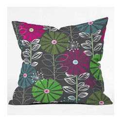 """DENY Designs - Khristian A Howell Cape Town Blooms Throw Pillow - Wanna transform a serious room into a fun, inviting space? Looking to complete a room full of solids with a unique print? Need to add a pop of color to your dull, lackluster space? Accomplish all of the above with one simple, yet powerful home accessory we like to call the DENY Throw Pillow! Features: -Khristian A Howell collection. -Top and back color: Print. -Material: Woven polyester. -Sealed closure. -Spot treatment with mild detergent. -Made in the USA. -Closure: Concealed zipper with bun insert. -Small dimensions: 16"""" H x 16"""" W x 4"""" D, 3 lbs. -Medium dimensions: 18"""" H x 18"""" W x 5"""" D, 3 lbs. -Large dimensions: 20"""" H x 20"""" W x 6"""" D, 3 lbs."""