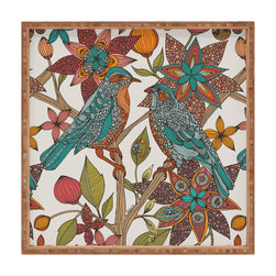 DENY Designs - Valentina Ramos Lovebirds Square Tray - With DENY'S multifunctional square tray collection, you can use it for decoration in just about any room of the house or go the traditional route to serve cocktails. Either way, you'll be the ever so stylish hostess with the mostess!