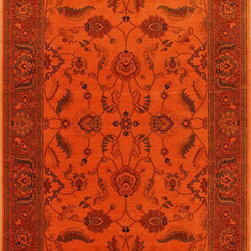 "Karastan - Karastan Esperanza 621-50051 (Burnt Orange) 8'8"" x 10' Rug - Classic Karastan Axminster designs bathed in rich pigmented dyes in vibrant shades of orange, apple green, sea blue and amethyst create a modern twist on timeless patterns. The Esperanza collection of rugs are made of durable and renewable New Zealand wool, woven in the U.S., and are able to withstand the most challenging demands of today's lifestyles."
