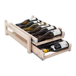 Wine Logic - Wine Logic In-Cabinet Wine Storage, 2 Tier (12 Bottles) - Wine Logic wine racks approach home wine storage with thoughtful design, quality craftsmanship and a connoisseur's insight. The result is a high-end wine storage solution that easily resolves the challenges of space, clutter, cost and more.