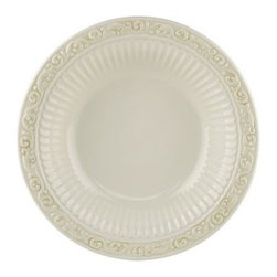 Lenox - Lenox Butler's Pantry Buffet 9 1/2-Inch Individual Pasta Bowl - An elegant classic, Butler's Pantry stoneware-crafted dinnerware adds a vintage touch to every gathering. The pattern is distinguished by graceful silhouettes featuring embossed patterns and gently scalloped edges.