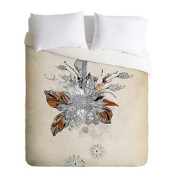 DENY Designs - Iveta Abolina Floral 2 Duvet Cover - Turn your basic, boring down comforter into the super stylish focal point of your bedroom. Our Luxe Duvet is made from a heavy-weight luxurious woven polyester with a 50% cotton/50% polyester cream bottom. It also includes a hidden zipper with interior corner ties to secure your comforter. it's comfy, fade-resistant, and custom printed for each and every customer.