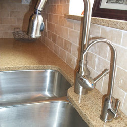 on the backsplash and mohawk brandymill hickory chestnut flooring
