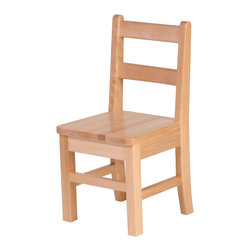 """Steffywood - Steffywood Home Kids Toddler 11"""" Solid Maple Chair - Solid maple construction; mortise and tenon construction; curved rear legs to prevent tipping; manufactured in Canada.Seat height 11"""". Seat measures 11 1/2""""w x 10 1/2""""d. GreenGuard certified. Made in Canada."""