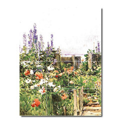 Picture-Tiles, LLC - Home Of The Hummingbird Tile Mural By Childe Hassam - * MURAL SIZE: 24x18 inch tile mural using (12) 6x6 ceramic tiles-satin finish.