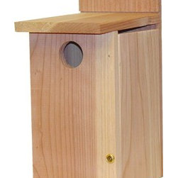 Heath - Bluebird House - Bluebird House. Side tilts open for inspection and cleaning.