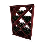 Wine Cellar Innovations - Diamond Bin w/Face Trim; Vintner: Rustic Pine, Classic Mahogany, 4 Ft - Solid Diamond Bins organize case wine storage in an attractive, popular, and practical style. The decorative face trim adds to the_sturdy appearance and is a finishing detail only previously offered on our top of the line custom racking. The Diamond Bin Face Trim needs to be cut to fit on site. Purchase two to stack on top of each other to maximize the height of your wine storage. Moldings and platforms sold separately. Assembly required.