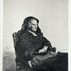 "Rembrandt Van Rijn Rembrandt's Mother, Seated, Looking to the Right - 16"" x 20"" - 16"" x 20"" Rembrandt Van Rijn Rembrandt's Mother, Seated, Looking to the Right premium archival print reproduced to meet museum quality standards. Our museum quality archival prints are produced using high-precision print technology for a more accurate reproduction printed on high quality, heavyweight matte presentation paper with fade-resistant, archival inks. Our progressive business model allows us to offer works of art to you at the best wholesale pricing, significantly less than art gallery prices, affordable to all. This line of artwork is produced with extra white border space (if you choose to have it framed, for your framer to work with to frame properly or utilize a larger mat and/or frame).  We present a comprehensive collection of exceptional art reproductions byRembrandt Van Rijn."
