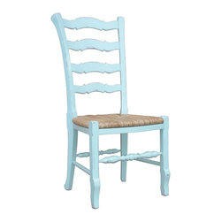 EuroLux Home - New Dining Chair Blue Set 6 Painted Hardwood - Product Details