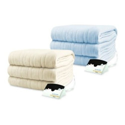 Biddeford - Biddeford Blankets Comfort Knit Heated Blanket - With 10 heat settings for customized comfort, turn down your thermostat and turn up your Biddeford Blankets Comfort Knit Heated Blanket. The magnificently soft blanket is perfect to cuddle under on brisk days and cold nights.