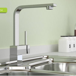 Modern Chrome Single Lever Kitchen Sink Tap Faucet - Features: