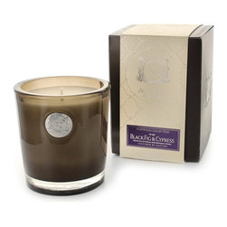Aquiesse Black Fig and Cypress Soy Candle - Made from an ecologically responsible choice of lead-free, soy-based proprietary wax, the Black Fig and Cypress Soy Candle is as guilt-free as it is intoxicating. The fruity purple aroma of Mission fig is the sweet, evocative center note which upholds this candle's scented story; the slightly sharper floral fragrance of petit grain continues the wonder of West Coast flora, while Mediterranean cypress gives a greener, forested strength to the mix.