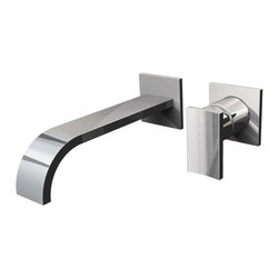 Graff - Sade Collection Wall-Mounted Lavatory Faucet W/ 1 Handle, Polished Chrome - Wall-mounted spout and handle installation