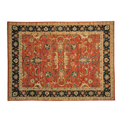 1800-Get-A-Rug - Dense Weave 100% Wool Hand Knotted Oriental Rug Serapi Recreation Sh14618 - Our fine Oriental rug collection consists of 100% genuine, hand-knotted and hand-woven rugs from Persia, China, and other areas throughout Asia. Classic, traditional, and offered in a wide range of elaborate designs, every rug is guaranteed to serve as a beautiful and striking element in any interior setting.
