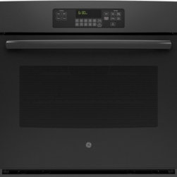 "GE - JT3000DFBB 30"" 5.0 cu. ft. Capacity Built-In Single Wall Electric Oven With Self - Your GE 30 in Single Wall Oven in Black provides a full 50 cu ft capacity per oven for ample cooking space The Self-Cleaning Oven with Steam Clean Option cleans both loosened baked-on foods The Big View oven window allows you to see your food while c..."