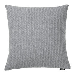Louise Roe Design Essentials - Sailor Knit Decorative Pillow, Grey - This pillow works great as a lovely accent to greys, whites, blues and blacks. This is a knitted pillow in 100% cash wool by Danish designer Louise Roe.