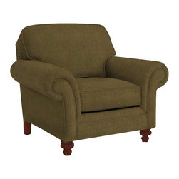 Broyhill - Broyhill Larissa Green Olive Chair with Cherry Wood Finish - Broyhill - Club Chairs - 61120Q - About This Product: