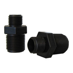 SUNSOLAR - Two Fitting Adaptors For Off-Line Automatic Chlorinator Replacement Part - A fitting adaptor is threaded securely into the inlet port of  the chlorinator and the tubing attaches to the adapter socket. Adaptor has 3/8 inch male thread  and 1/4 inch adapter socket. This is a 2 pack.