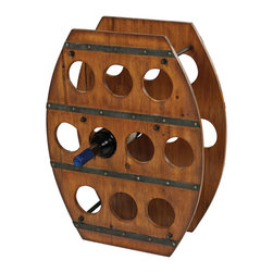 Sterling Industries - Wine Rack in Stained Wood - Wine Rack in Stained Wood by Sterling Industries