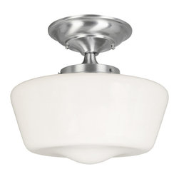 World Imports - World Imports 9007 Luray Flush Mount - World Imports 9007-02 Luray Semi-Flush in Satin Nickel