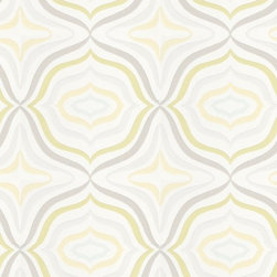 Optical by Cole & Son - This wallpaper is, well, let's face it, kinda trippy. It makes my eyes dance, and I like it. It's retro without kitsch, it's a bit of an optical illusion without overwhelming.