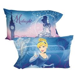 Disney - Disney Cinderella Pillowcases Secret Princess Pillow Covers - FEATURES: