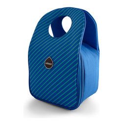 Milkdot - Stöh Lunch Tote, Blueberry Stripes - Stöh is a modern yet practical solution for a lunch bag that combines clean and simple design with features perfect for stowing your favorite food, drink and utensils and cool enough for the whole family to carry too. Sleek and timeless, Stöh is for all-ages. Lightweight and folds flat for easy storage after use.