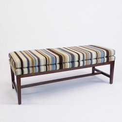 Lillian August Bench w/Striped Upholstery - Lillian August Bench w/Striped Upholstery