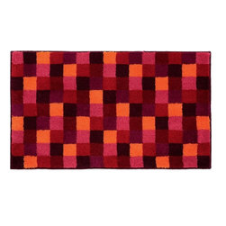 """Grund - Grund Premium Bathroom Comfort Mats-Joker Series, Red, Small - Vibrant and energetic! The Joker Series will kick-start your morning routine in your bathroom by waking you up with these bright colors and fun pattern!  Machine tufted.  Comes in two colors and is available in three sizes:  21"""" X 24"""" small, 24"""" X 36"""" medium, 24"""" X 60"""" large."""