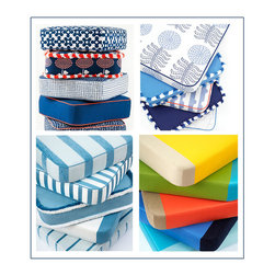 Link Outdoor Fabrics - Stripes, patterns, solids, textures, and the latest Color Block, these are just a few of our favorite fabrics in our favorite colors for hot summer days. Not just for outdoors, Link Outdoor fabrics are especially suited for indoors too, and in these colors they are especially welcome in coastal areas where the blue of the ocean meets the blue of the sky, Fresh, youthful and fun, yet sophisticated.  © Link Outdoor