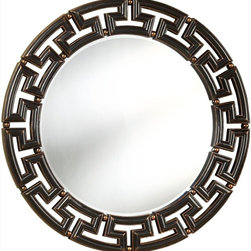 Coaster - Mirror, Antique Brown - Featuring a stunning Greek key look frame in an antique brown finish, this mirror is perfect for any home.