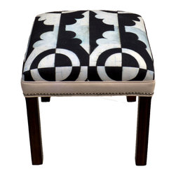 "Carrier Collective - ""Mini"" Ottoman - Meet ""Mini"".  One of our Native American inspired designed Ottomans."