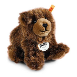 Steiff - Steiff Plush Urs Brown Bear - Steiff Urs Brown Bear is made of cuddly soft brown woven plush. Ages 3 and up. Machine washable. Handmade by Steiff of Germany.