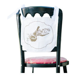Tin Parade - Chair Banner, Baby - From the combined talents of an event planner and graphic designer, comes a new concept in party decor. Simply hang a Chair Banner down the back of your guest of honor's chair, or display it on your front door for the warmest of welcomes.