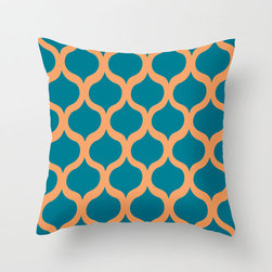 Safi Sunrise Pillow Cover in Peacock - Brighten up your home with a serious pop of color! This cheery pillow cover features a trendy Moroccan tile pattern in hues sure to grab your attention and put a smile on your face.
