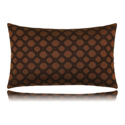 Elaine Smith - octagon spice lumbar pillow (12x20) - Performance pillows from renowned textile designer Elaine Smith® feature unique fabrics that are both soft and stylish, rich in color, lavish in detail, and impervious to the elements.
