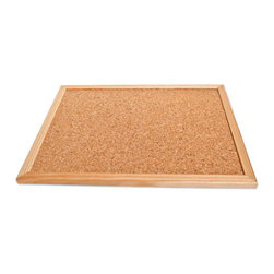 The Felt Store - Cork Memo Board (600 X 400 X 15 mm) - The Felt Store's Cork Memo Board is the perfect solution for your organisational needs. Today's hectic world requires constant organisation. Achieve this goal with the help of our Cork Memo Board! Made of fine grain cork, this large memo board is a great assistant in keeping your notes and notices organized and available. It is a great way to work with presentations or to put images up in your room or home! This is a naturally stylish product that will fit right into your home or office that is truly functional and necessary in day to day activities. Keep everyone in the know with your Cork Memo Board! This product can be wiped clean with a damp cloth. This Cork Memo Board is approximately 24 inches long, 15 inches wide and 0.55 inches thick in dimension.