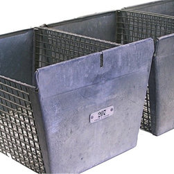 Vintage Locker Baskets - Re-purposed vintage locker baskets will add new design and orgainization to your home or office. Extra sturdy with a solid galvanized  All locker baskets have a numbered tag that reads FRANK D. COHEN.