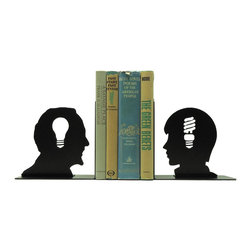 What's Old is New Again Bookends - Style always repeats itself and that's just what's happening with these whimsical bookends. The light bulb moments of the past converge with those of the present for a perfect place to hold your titles.