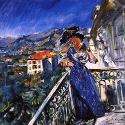 "Lovis Corinth On the Balcony in Bordighera - 16"" x 20"" Premium Archival Print - 16"" x 20"" Lovis Corinth On the Balcony in Bordighera premium archival print reproduced to meet museum quality standards. Our museum quality archival prints are produced using high-precision print technology for a more accurate reproduction printed on high quality, heavyweight matte presentation paper with fade-resistant, archival inks. Our progressive business model allows us to offer works of art to you at the best wholesale pricing, significantly less than art gallery prices, affordable to all. This line of artwork is produced with extra white border space (if you choose to have it framed, for your framer to work with to frame properly or utilize a larger mat and/or frame).  We present a comprehensive collection of exceptional art reproductions byLovis Corinth."