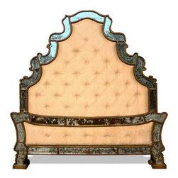 Mirror Headboard, Tufted - Mirror Headboard, Tufted