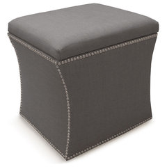 Nail Button Storage Ottoman - Gilt Home
