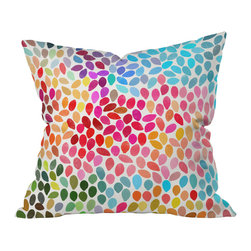 DENY Designs - Garima Dhawan Rain 6 Throw Pillow, 16x16x4 - Wanna transform a serious room into a fun, inviting space? Looking to complete a room full of solids with a unique print? Need to add a pop of color to your dull, lackluster space? Accomplish all of the above with one simple, yet powerful home accessory we like to call the DENY throw pillow collection!