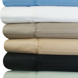 Bed In A Bag - 1000TC Striped Solid Egyptian Cotton Sheets-1134-king-chocolate - Come Experience The Finest Egyptian Cotton Sheets! We are one of the only manufactures who use a brand new, advanced weaving technology, which increases the sheets durability, extends the life, and creates a softness like no other! Available in Many Colors & Sizes
