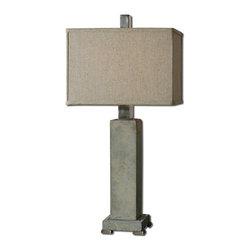 Uttermost - Uttermost 26543-1 Risto Brushed Aluminum Table Lamp - Uttermost 26543-1 Risto Brushed Aluminum Table Lamp