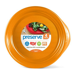 LaManna Precision - Everyday Plate | 4 Count - Preserve Everyday Tableware is perfect for everything from casual family meals to al fresco dining. The plates have been specially designed for ease of use, shaped and weighted for stability and resistance to spills. They are also designed to be dishwasher safe and durable enough to last decades�they can literally be used thousands of times. For this reason, we chose a textured material on the plate to hide utensil marks.