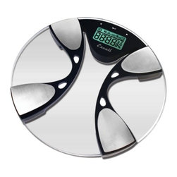 Escali - Digital Bathroom Scale - Step up your health regimen with advanced technology: This scale offers a reading of your weight, body fat and body water numbers on a bright digital display.