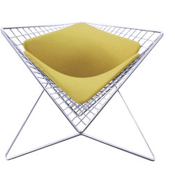 ENSSO - Parabola Chair - Modern Chair, Lemon Chartreuse - Specifications: